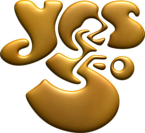 #Yes50 gold logo by Roger Dean
