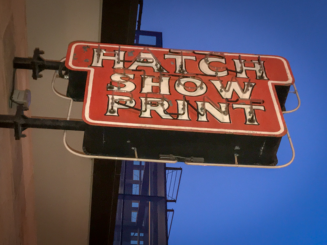 Hatch Show Print exterior and all photos (c) Gottlieb Bros. 2017