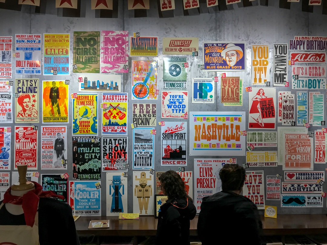 The Hatch Show Print gift show has an amazing selection of beautiful prints