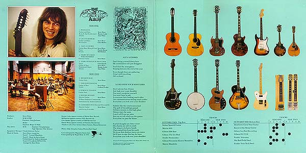 Steve Howe Album inner booklet design