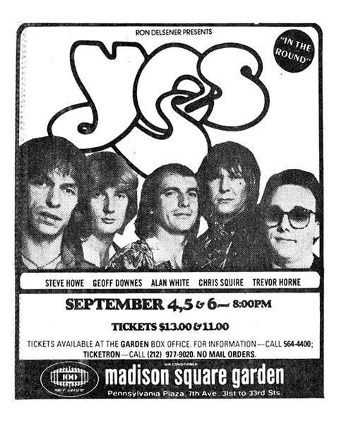 Yes Live At Madison Square Garden Ad