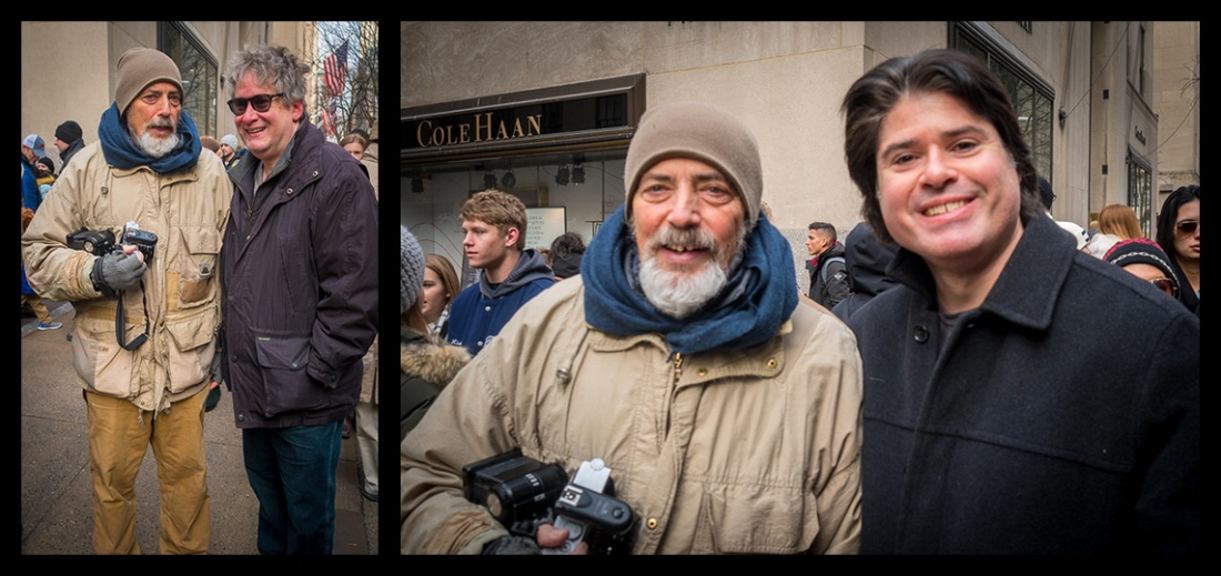 Magnum Photos' Bruce Gilden and Douglas Gottlieb & Glenn Gottlieb in Manhattan, December 17, 2017